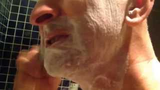 Shaving with my handmade soap!
