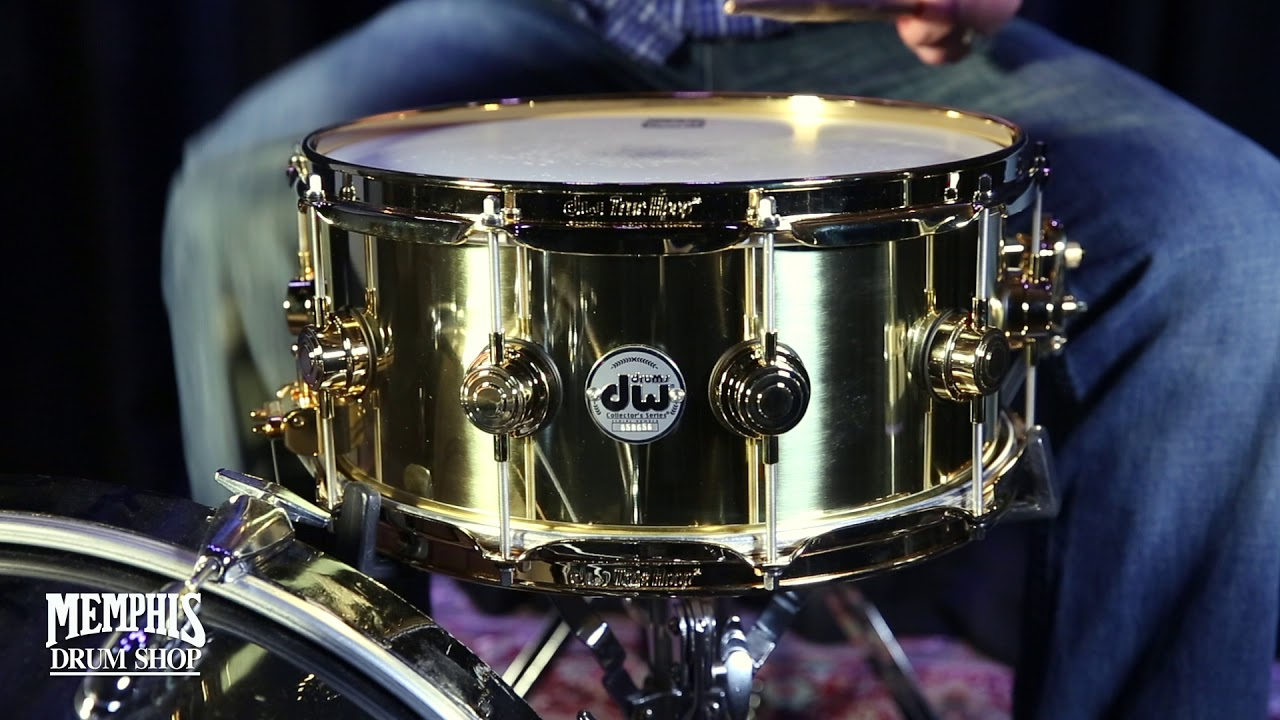 Dw Shop Dw 14x6 5 Collector S Bell Brass Snare Drum With Gold Hardware