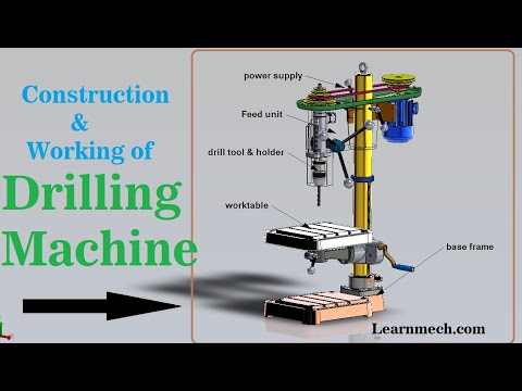 Drilling Machine | Construction ,Parts , Working , Animation