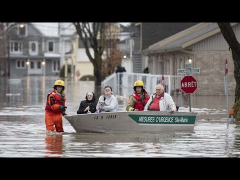 Spring flooding hits Quebec, Ontario, and New Brunswick