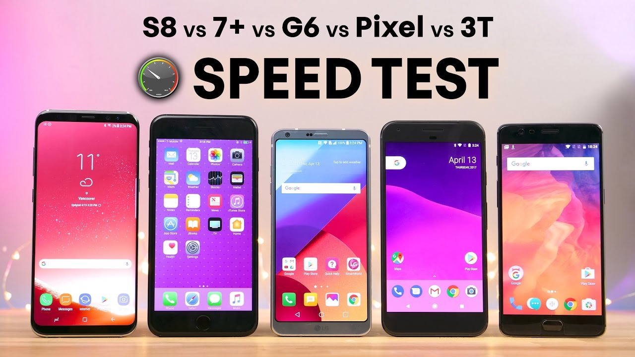 Galaxy S8 vs 7 Plus vs LG G6 vs Pixel vs 3T SPEED Test!