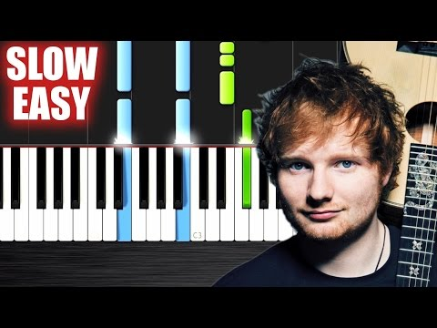 Ed Sheeran - Photograph - SLOW EASY Piano Tutorial by PlutaX