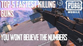FASTEST KILLING GUNS IN PUBG MOBILE AND THE RUNNERS UP