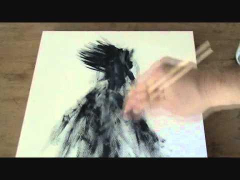 Peinture Gestuelle Et Intuitive Partie 1wmv Youtube