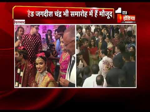 Politicians, Industrialists attend Ramoji Rao granddaughter Keerthi Sohana's wedding