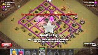 Clankrieg ~ Angriff auf Rathaus level 8 ~ drache ist crazy ~ Clash of Clans deutsch/german