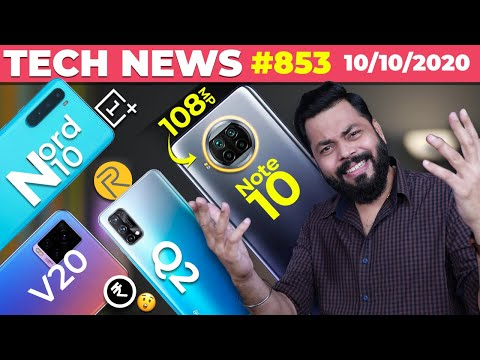 Redmi Note 10 on 108MP 😲, OnePlus Nord N10 Launch, realme Q2 Series Launch, vivo V20 Price-#TTN853