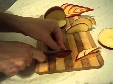 Украшение для стола из яблока