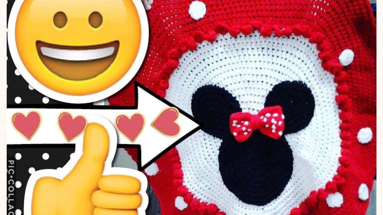 Disney Crochet Minnie Mouse Blanket Tejiendo Con Erica Youtube