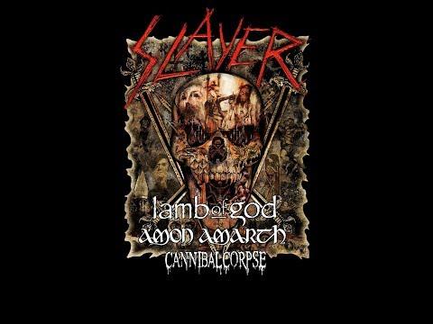 Slayer new farewell tour dates w/ Lamb of God + Amon Amarth + Cannibal Corpse..!