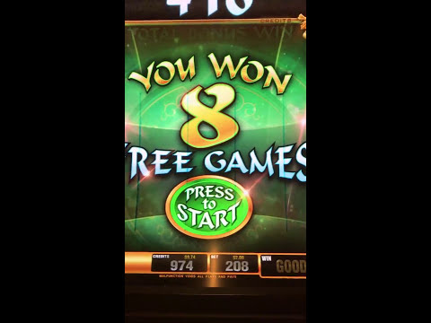 Big win at Four Winds casino New Buffalo slot machine