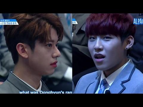 [ENG] Produce 101 Season 2 EP 8 | Donghyun (Rank 29) & Woojin (Rank 14) cut