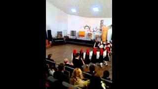 Gaida and Zonaradika greek dance in Targoviste,Romania.