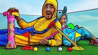 Aprende colores con golf bolas - bebé rimas canción dedo canciones familiares para los niños 2018