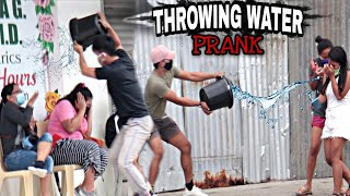 THROWING WATER at PEOPLE | PUBLIC | (PRANK) | Ang bilis maka ilag ni ate, HAHAHA