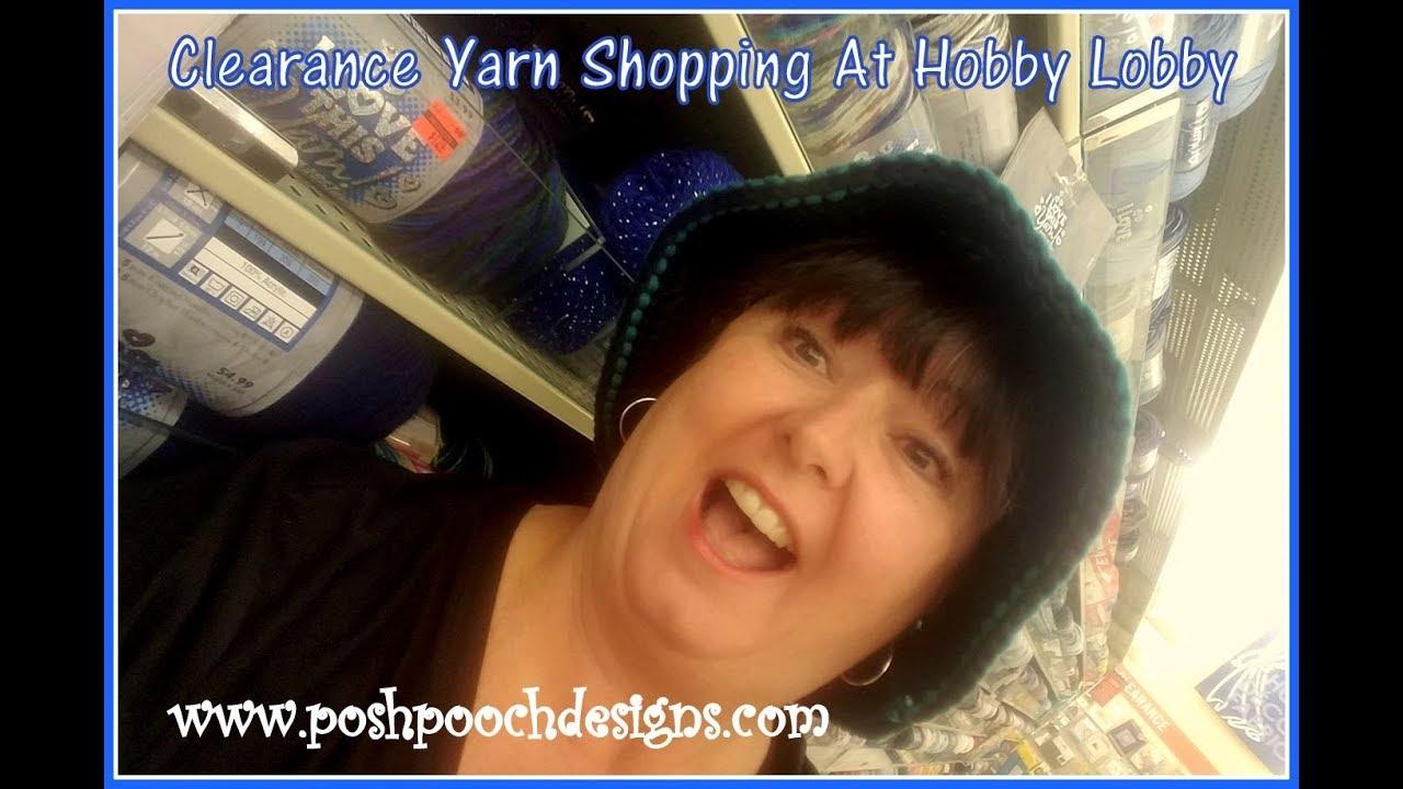 Clearance Yarn Shopping At Hobby Lobby - YouTube