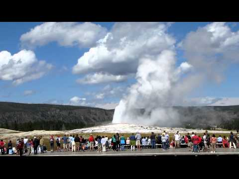Old Faithful Geyser Blowing His Top -  Yellowstone National Park