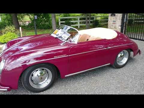 200? BURGUNDY ELECTRIC PORSCHE SPEEDSTER CONVERTIBLE KIT CAR