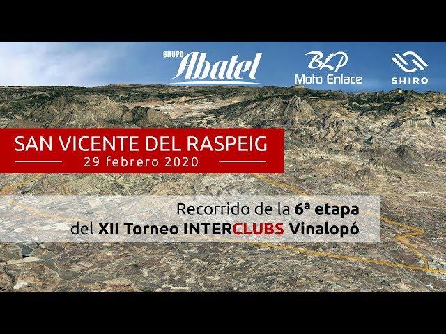 San Vicente del Raspeig. Sexta etapa Interclubs Vinalopó 2020