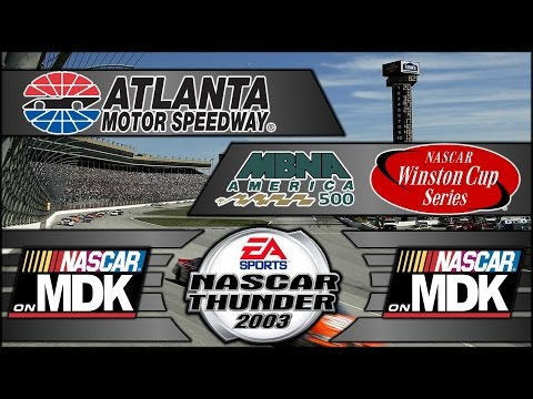 Let's Play: NASCAR Thunder 2003 (PS2) - Race 4/36 - MBNA America 500