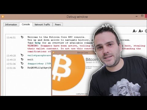 Getting your Private Keys from the Bitcoin Core wallet