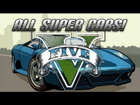 GTA V - All Super Cars - RARE Custom Rides (GTA 5) Ferrarri Bugatti Lamborghini