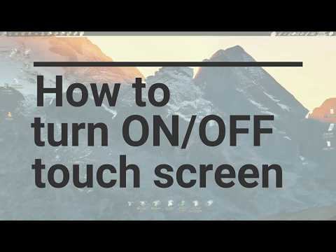 How To Disable / Enable Touch Screen | Windows 10