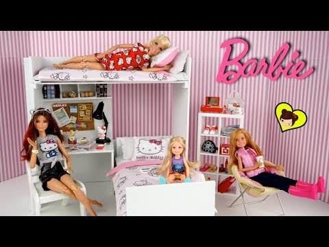Dormitorio de Barbie con Literas para Muñecas - Miniaturas de Hello Kitty