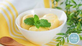 【簡單甜點】芒果優格冰淇淋 Mango Yogurt Ice Cream│HowLiving美味生活