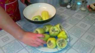 Фаршированные перцы; фаршируем перцы; как фаршировать перцы; фаршированные перцы курицей и грибами
