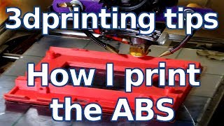 3d printing tips - How I Print the ABS without adherence problem - Ita sub EN