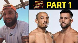 MMA Pros Pick ✅ Jose Aldo Vs. Pedro Munhoz - Part 1 👊 UFC 265
