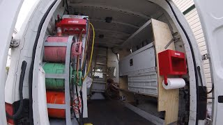 Van Shelving/Rebuild For Work Van/Van Shelf Ideas