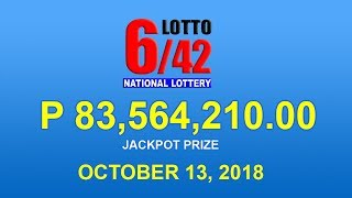 PCSO Lotto 6/42 Result October 13, 2018 - Lotto Results Today
