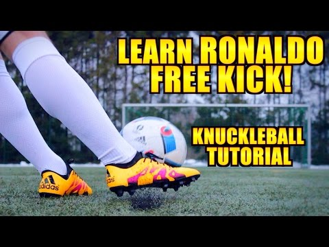 How to shoot a KNUCKLEBALL like Cristiano Ronaldo ● Tutorial