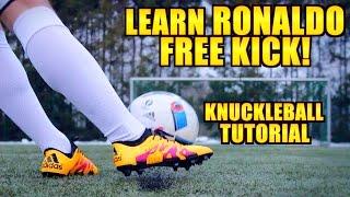 How to shoot a KNUCKLEBALL like Cristiano Ronaldo ● Tutorial