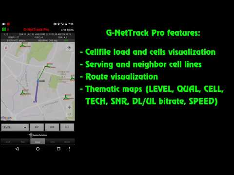 G-NetTrack Pro  - features