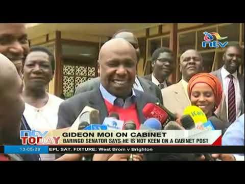 Baringo senator Gideon Moi says he is not keen on a cabinet post