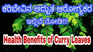 Benefits of Curry Leaves in Kannada | Curry Leave Benefits in Kannada |Curry Leaves Health Benefits