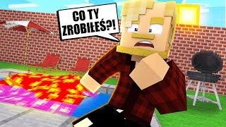 ZBUDOWAŁEM BASEN! KTOŚ GO ZALAŁ LAWĄ!!! l Minecraft BlockBurg