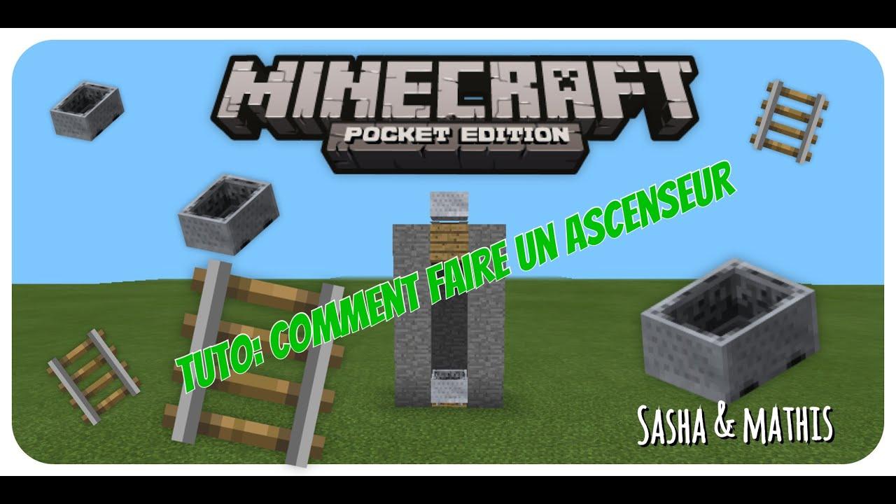 minecraft tuto comment faire un ascenseur pe youtube. Black Bedroom Furniture Sets. Home Design Ideas