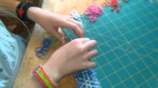 Драконья чешую из резинок Rainbow Loom урок 3