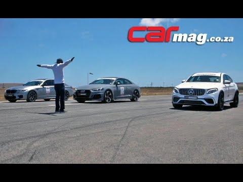 DRAG RACE! Audi RS5 Vs. BMW M5 Competition Vs. GLC63 S Coupé
