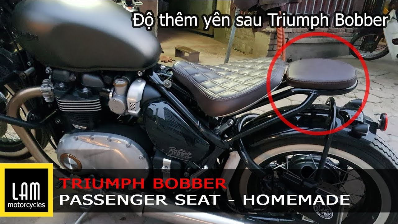 Homemade Triumph Bobber Passenger Seat Lammotorcycles Youtube Triumph Bobber Xe Bobber Xe Cộ [ 720 x 1280 Pixel ]