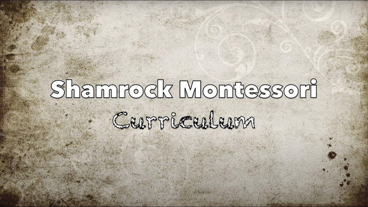 Shamrock Montessori Curriculum