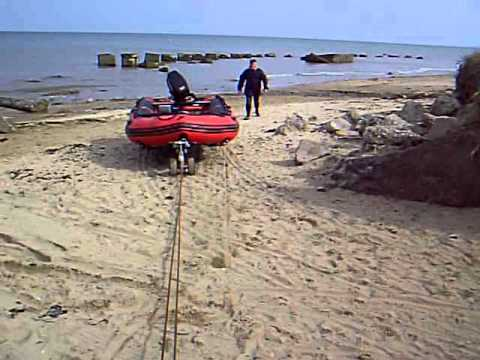 Boat Loader Using Car Winch