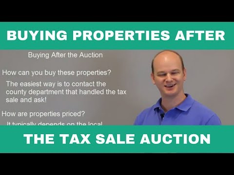 Buying Tax Sale Properties AFTER Auction
