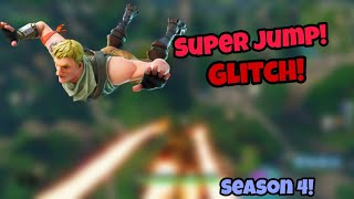 FORTNITE SEASON 4 GLITCHES *NEW* SUPERJUMP IN SEASON 4 PS4/XBOX ONE 2018