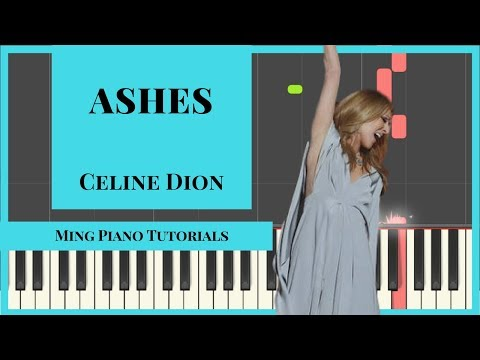 Ashes-Celine Dion Piano Cover [FREE midi & SHEETS] (Ming Piano Tutorials)