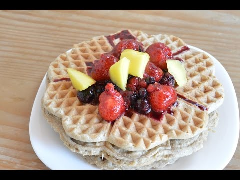 waffel rezept lecker und gesund mit n hrwertangaben youtube. Black Bedroom Furniture Sets. Home Design Ideas